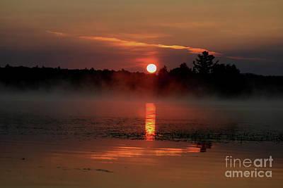 Morning Reflections On Lake Umbagog   Poster by Neal Eslinger