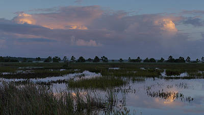 Morning Reflections Over The Wetlands Poster