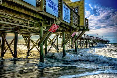 Morning Sun Under The Pier Poster