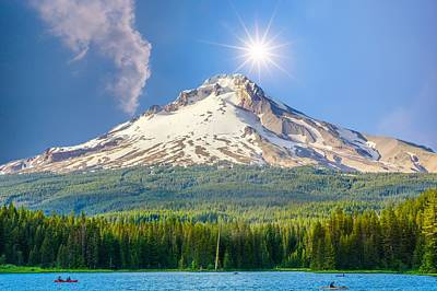 Morning View Of The Mt Hood Poster