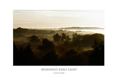 Poster featuring the digital art Morning's Early Light by Julian Perry