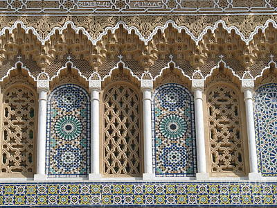 Poster featuring the photograph Moroccan Tile by Erik Falkensteen