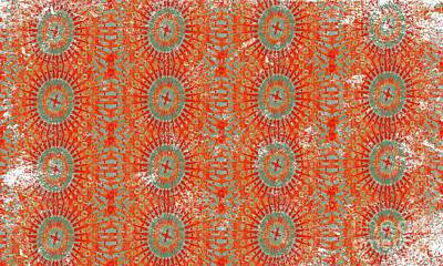 Moroccan Tribal Hot Poster by AMAZDECOR Art and Lifestyle