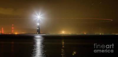 Morris Island Light House 140 Year Anniversary Lighting Poster