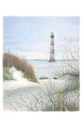 Morris Island Light Poster by Todd Baxter