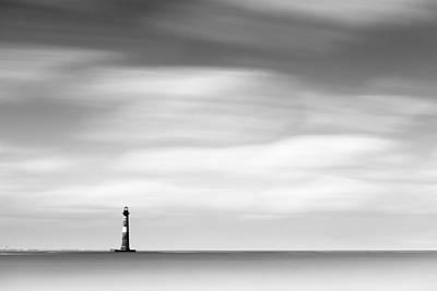 Morris Island Lighthouse Bw Poster