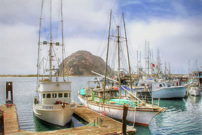 Poster featuring the photograph Morro Bay Rock And Marina by Donna Kennedy