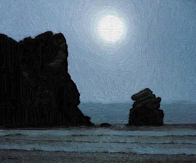 Morro Bay Rock Poster by Joe Bonita