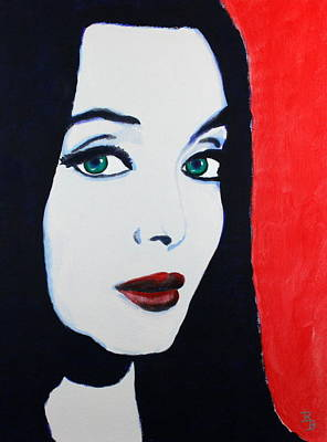 Poster featuring the painting Morticia Addams by Bob Baker