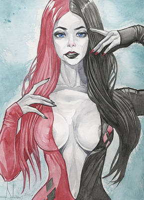 Morticia Harley Mashup Poster