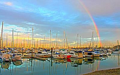 Morton Bay Rainbow Poster by Susan Vineyard