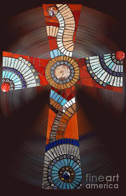 Mosaic Cross #2 Poster