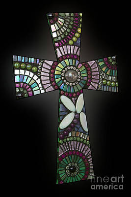 Mosaic Cross #1 Poster