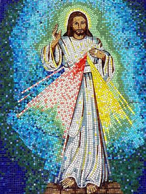 Poster featuring the photograph Mosaic Of Christ Rising by Joseph Frank Baraba