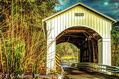 Poster featuring the photograph Mosby Creek Bridge by Jim Adams