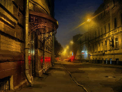 Poster featuring the photograph Moscow Steampunk Sketch by Alexey Kljatov