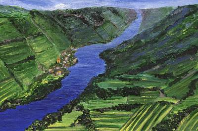 Poster featuring the painting Moselle River by Jamie Frier