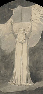 Moses Receiving The Law  Poster by William Blake