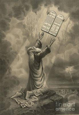 Moses Receiving The Ten Commandments Poster