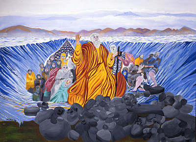 Poster featuring the painting Moses by Sima Amid Wewetzer