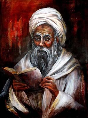 Moslem Man With Koran Poster