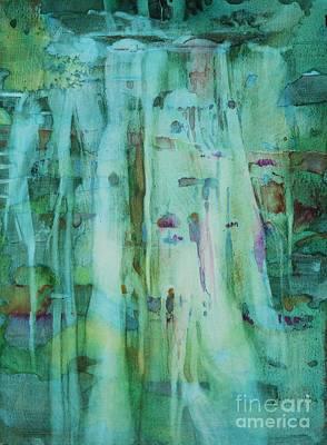 Mossy Falls Poster by Elizabeth Carr