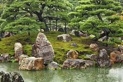 Mossy Japanese Garden Poster by Carol Groenen