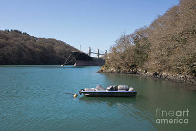 Mothballed On The River Fal Poster by Terri Waters