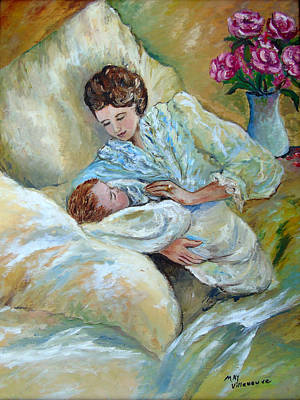 Mother And Child By May Villeneuve Poster
