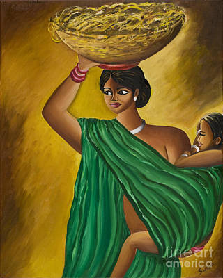 Mother And Child Poster by Sweta Prasad