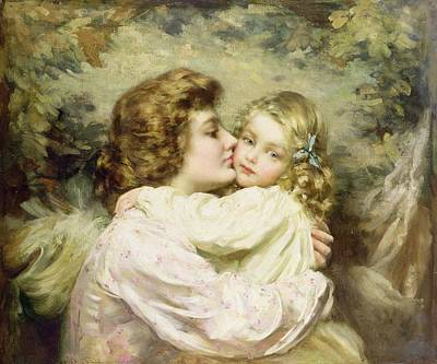 Mother And Daughter  Poster by Thomas Benjamin Kennington