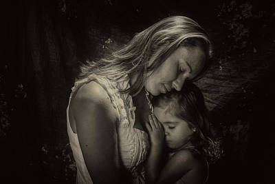 Mother Daughter Poster by Kevin Cable