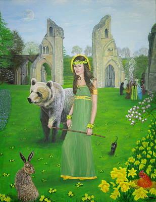 Mother Of Fire Goddess Artha - Spring Equinox Poster