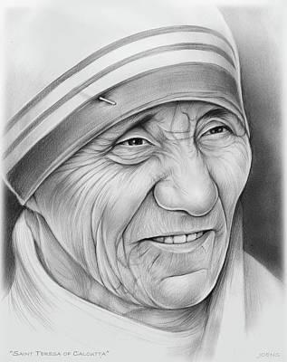 Mother Teresa Poster by Greg Joens