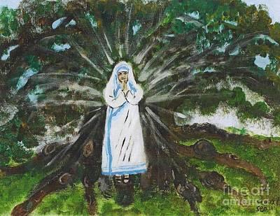 Mother Teresa In Acadiana Poster by Seaux-N-Seau Soileau
