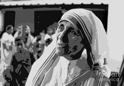 Mother Teresa Poster Poster by John Malone