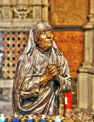 Mother Teresa St Francis Church Poster by Brett Wiatre