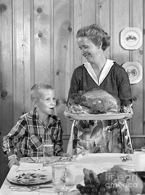 Mother With Thanksgiving Turkey, C.1950s Poster by H. Armstrong Roberts/ClassicStock