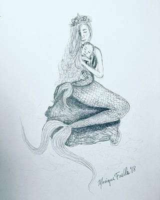 Motherhood Mermaid Poster
