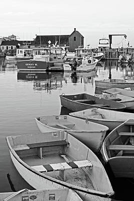 Motif #1 Rockport Ma Black And White Poster