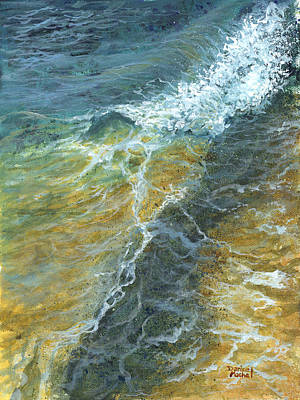 Poster featuring the painting Motion Of The Ocean by Darice Machel McGuire