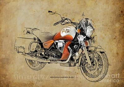 Moto Guzzi California 90 2012 Poster by Pablo Franchi