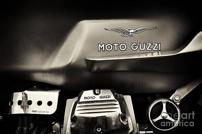 Moto Guzzi V7 Cafe Racer Sepia Poster