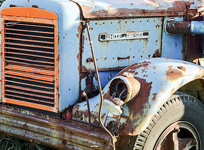 Motor Company White Diesel Truck Poster by Nick Mares
