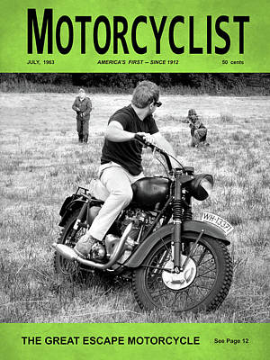 Motorcycle Magazine Great Escape Motorcycle Poster