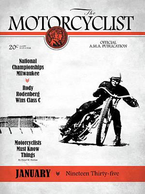 Motorcycle Magazine National Championship Milwaukee 1935 Poster