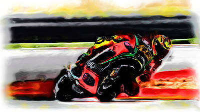 Motorcycle Racing 05a Poster by Brian Reaves