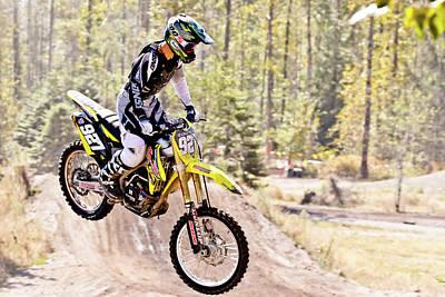 Motosport Biker Poster