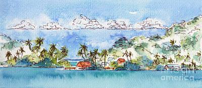 Motu Toopua Bora Bora Poster by Pat Katz