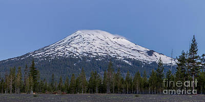 Mount Bachelor At Dawn Poster by Twenty Two North Photography